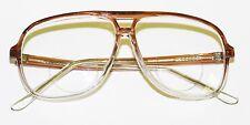 Classic 80's Tech Bifocal Reading Glasses Men's Large Topaz Clear Ombre +3.75