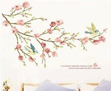 NEW SHABBY CHIC PRETTY WALL STICKER VINTAGE BEDROOM LOUNGE FLORAL BIRD LOVE