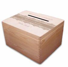 große Holz-Box/ Geschenkbox zur Hochzeit Briefbox Geldgeschenke incl Lasergravur