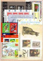 S138489/ FRANCE – MINI-SHEETS / LOT 1986 – 2000 MINT MNH CV 248 $