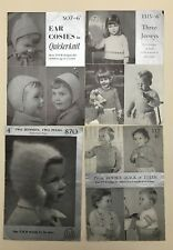 Job lot of toddler & small child vintage knitting patterns