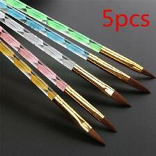 5Pcs New Acrylic 3D Painting Drawing UV Gel DIY Brush Pen Tool Nail Art Set