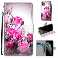 Wild Rose Flip Wallet Fashion Women Girl 3D Bracket Case Cover For Various Phone