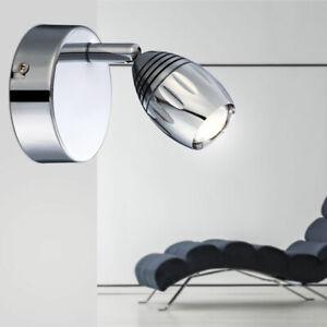 Design DEL miroir mur lampe chrome commutable plafonnier verre salle de bain Big Light