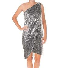 AQUA $198 Retail SILVER Sequined SEXY One Should Shimmer COCKTAIL DRESS SZ 0 NWT