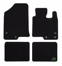 LOGO Fully Tailored black floor car mats fits Hyundai i40 2011-up  4pcs set