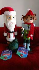 Hallmark Northpole Sweet Treat Elf / Santa Nutcrackers Set Nwt FREE Shipping