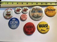 Lot Of 9 Beer Pins Shiner Corona Miller Dunedin Brewery Ybor Brown Ale