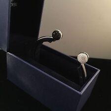 Signed Swan Swarovski Black & White Crystal Balls Size M Bracelet