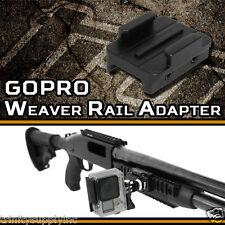 GoPro HD HERO 2 3 3+ 4 Lightweight Picatinny Gun Rifle Pistol Mount.