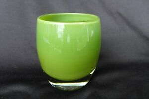 Glassybaby Glass Votive Green Candle Holder - Frog Hunting Bud Imagine Jeffery??