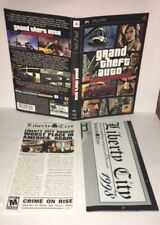 Grand Theft Auto Liberty City Stories PSP Original Replacement Artwork & Manual
