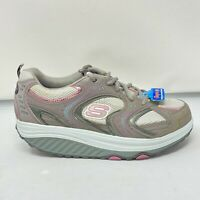 Sketchers Shape Ups Womens Sz 10 SN 11806 Gray Pink Walking Sneaker Toning Shoes