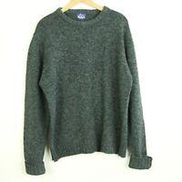"Vintage Woolrich Mens Crewneck Pullover Sweater Green Black L XK 54"" Chest"