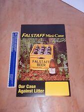 "Vintage Original 1970s Falstaff Beer Advertising Poster 10"" X 16"""