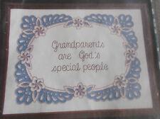 "VINTAGE ANN BENSON CHARMIN EMBROIDERY CHAINSTITCHING KIT GRANDPARENTS 16"" X 12"""
