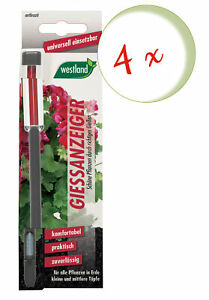 Savings Set: 4 X Westland Indicator For Flower Soil, 16 CM Anthracite