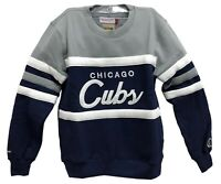 Mitchell & Ness Navy/Grey MLB Chicago Cubs Head Coach Sweatshirt