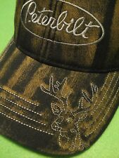 PETERBILT HAT :    BUCK STITCH CAP   *FREE SHIPPING*
