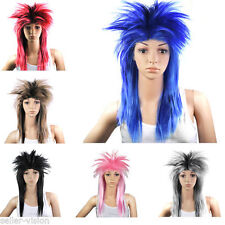 Perruques et toupets bleus raides pour femme