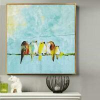CHENPAT1459 100% handmade painted birds on branch oil painting art on canvas
