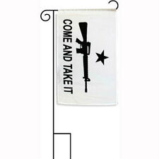 "12x18 12""x18"" Come And Take It Rifle Sleeved w/ Garden Stand Flag"