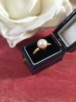 Vintage Jewellery Yellow Gold White Pearl Ring Antique Victorian Jewelry
