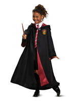 Harry Potter Gryffindor House Student Deluxe Costume Robe Sweater Tie Wand 6-8 M