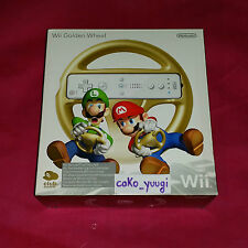 VOLANT OR MARIO KART NEUF WII WII GOLDEN WHEEL MARIO KART CLUB NINTENDO EUROPE