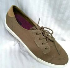 Reef Ridge Men•Athletic•Brown•Canvas/Leather•Sneakers Casual Fashion Sz•9•NEW