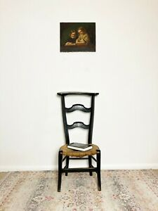 Antique Prayer Chair with inscription