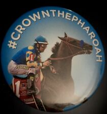 American Pharoah Button Pin Belmont Stakes 2015 RARE Triple Crown Limited Horse