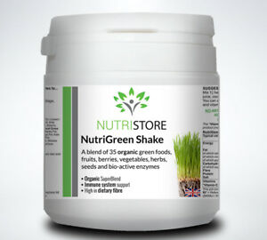 NutriGreen Vitamin and Meal Shake 35 Organic Foods and Enzymes Vegan Vegetarian