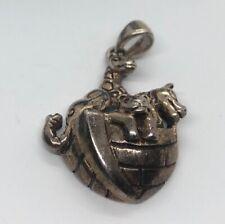 Vintage Sterling Silver Necklace 925 Pendant Noah's Arc