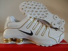 NIKE SHOX NZ ID WHITE-GOLD-BLACK SZ 11 [616117-981]