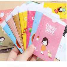 Cute Cartoon Style Canvas Business ID Credit Card Pocket Bag Wallet Holder Case+