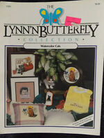 Watercolor Cats Cross Stitch Leaflet by The Lynn 'N Butterfly Collection