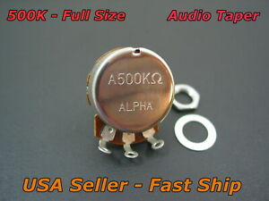 Alpha A500K Audio Taper 15mm Short Shaft Guitar Potentiometer Full Size Pot 500K