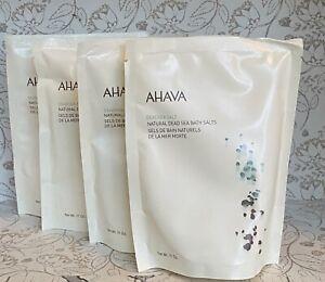 Lot of 4 AHAVA Deadsea Salt Natural Sea Bath Salts 11 oz