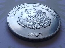 Republic of LIBERIA 1983 KM47 2 Dollars FAO World Fisheries Conference 1983-1984