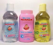 3pk Mennen baby magic talco 100g / Aceite 200ml / Colonia 200ml para bebés