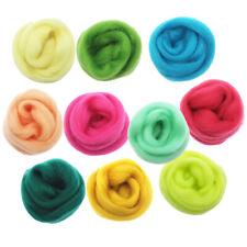 100g Handmade Wool Top Fibre Roving For Needle Felting Materials Multicolor