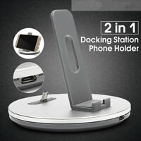 Aluminum Micro USB Desktop Charging Dock Stand Holder Phone Tab Charger Station