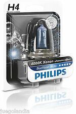 BOMBILLA H4 PHILIPS 12342BVUBW BLUE VISION LUZ XENON PARA FAROS DELANTEROS MOTO