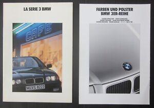 BMW Serie 3 E36 brochure ita 316i-318i-320i-325i + catalogo colori / interni