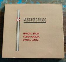 Harold Budd - Ruben Garcia - Daniel Lentz - Music For 3 Pianos CD 1992