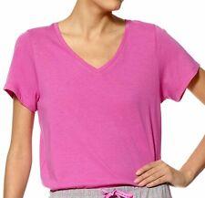 Hue Plus Short Sleeve Solid V-Neck Pajama Top