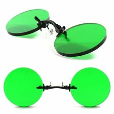 51762ff773 Templeless Pince Nez Vintage Old Gothic Round Green Costume Cosplay Sun  Glasses
