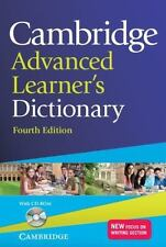 CAMBRIDGE ADVANCED LEARNER'S DICTIONARY WITH CD-ROM 4TH EDITION (2013, CD-ROM...