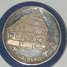 VTG SILVER COIN GAIBERG BADEN GERMANY GERMAN COMMEMORATIVE SOUVENIR TOKEN JETON